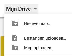 Google drive - bestanden uuploaden